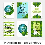 collection 6 earth day card... | Shutterstock .eps vector #1061478098