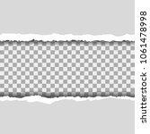 torn paper pieces background... | Shutterstock .eps vector #1061478998