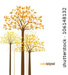 abstract background with autumn ... | Shutterstock .eps vector #106148132