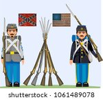 Soldiers of civil war in USA