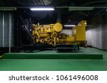 diesel engine driven generator... | Shutterstock . vector #1061496008