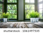 table background and spring... | Shutterstock . vector #1061497535