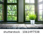 table background and spring... | Shutterstock . vector #1061497538