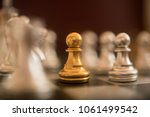 chess game show the brave... | Shutterstock . vector #1061499542
