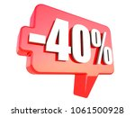 minus 40 percent off sign on...   Shutterstock . vector #1061500928