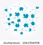 digital background. concept of... | Shutterstock .eps vector #1061506958