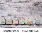gingerbread cookie in the form... | Shutterstock . vector #1061509766