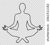 outline figure of a man sitting ...   Shutterstock .eps vector #1061511182