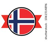 norway flag in glossy round... | Shutterstock .eps vector #1061514896