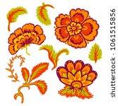 decorative beautiful flowers... | Shutterstock .eps vector #1061515856