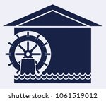 water wheel icon | Shutterstock .eps vector #1061519012