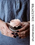 tasty cupcakes on background... | Shutterstock . vector #1061529788