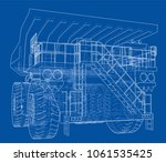 big truck outlined vector...