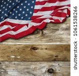american flag and wooden boards | Shutterstock . vector #1061538266