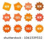 element design orange bubbles ... | Shutterstock .eps vector #1061539532