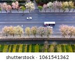 overlooking the bus and car... | Shutterstock . vector #1061541362