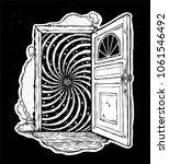 open door into a realm of... | Shutterstock .eps vector #1061546492