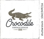 crocodile vintage logo isolated ... | Shutterstock .eps vector #1061549216