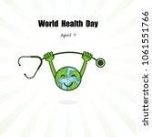 Globe Sign And Stethoscope...