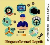 auto maintenance services icons ... | Shutterstock .eps vector #1061553422