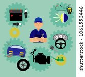auto maintenance services icons ... | Shutterstock .eps vector #1061553446