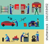 auto maintenance services icons ... | Shutterstock .eps vector #1061553452