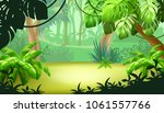 game landscape with tropical... | Shutterstock .eps vector #1061557766