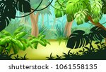 game landscape with tropical... | Shutterstock .eps vector #1061558135