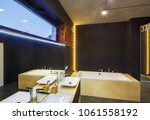 bathroom interior with a... | Shutterstock . vector #1061558192