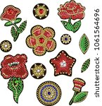 patches for textile design or... | Shutterstock .eps vector #1061564696