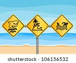 vector funny beach signs | Shutterstock .eps vector #106156532
