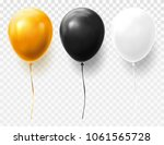 set of isolated balloons on... | Shutterstock .eps vector #1061565728