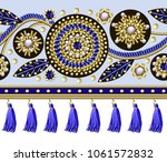 seamless border with flowers... | Shutterstock .eps vector #1061572832