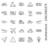 thin line icon set   home...   Shutterstock .eps vector #1061582375