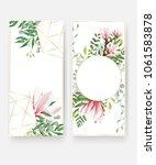 wedding invitation card... | Shutterstock .eps vector #1061583878