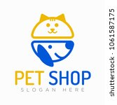 Stock vector vector logo design template for pet shops veterinary clinics and animal shelters vector logo 1061587175