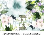 watercolor floral background... | Shutterstock . vector #1061588552