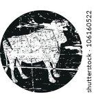 cattle stamp | Shutterstock .eps vector #106160522