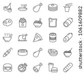 thin line icon set   sausage... | Shutterstock .eps vector #1061609882
