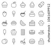 thin line icon set   sausage... | Shutterstock .eps vector #1061609912