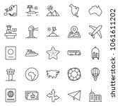 thin line icon set   paper... | Shutterstock .eps vector #1061611202