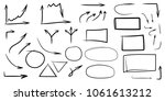 set of arrows  rectangles ... | Shutterstock .eps vector #1061613212