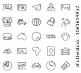 thin line icon set   paper... | Shutterstock .eps vector #1061614952