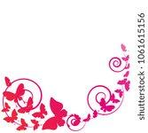 red butterflies  swirls  on a...   Shutterstock .eps vector #1061615156