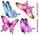 beautiful pink butterflies ...   Shutterstock .eps vector #1061615162