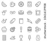 thin line icon set   sausage... | Shutterstock .eps vector #1061619908