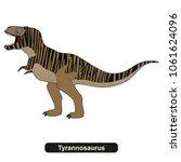 tyrannosaurus dinosaur extinct... | Shutterstock .eps vector #1061624096