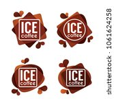 ice coffe  vector collection of ... | Shutterstock .eps vector #1061624258