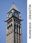 Stock photo old city hall tower in toronto canada a day view of the tower and clock 106162736