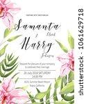 wedding invitation card... | Shutterstock .eps vector #1061629718